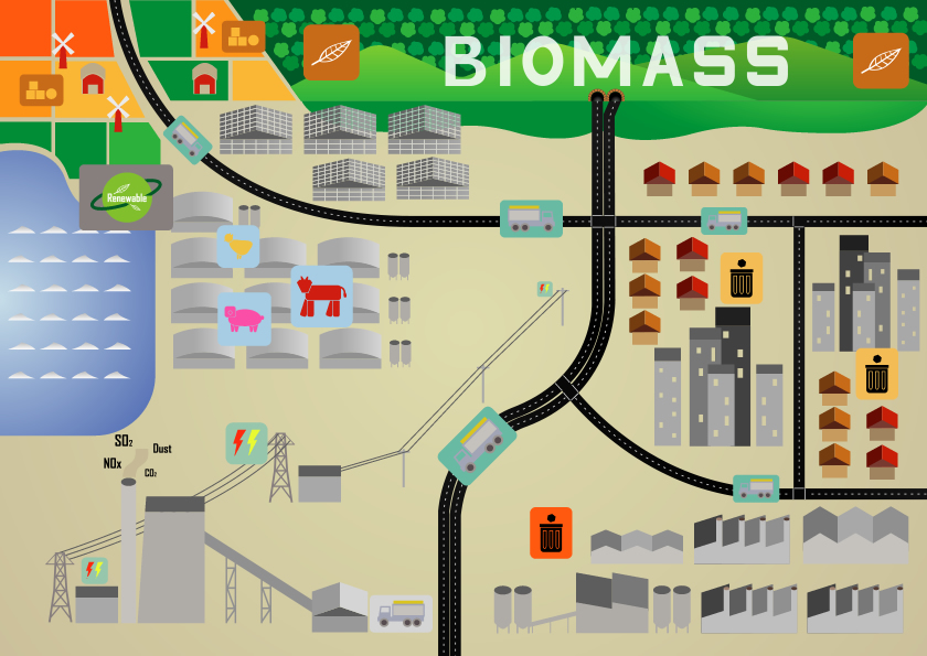 Renewable energy for heat production: Biomass